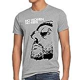 style3 No Women, No Kids Herren T-Shirt leon der profi portman nathalie reno jean, Größe:XXL, Farbe:Grau meliert