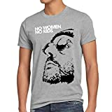 style3 No Women, No Kids Herren T-Shirt Leon der Profi Portman Nathalie Reno Jean, Farbe:Grau Meliert, Größe:5XL