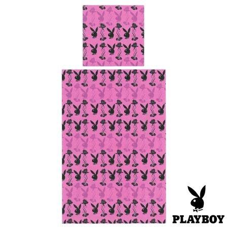 Playboy Microfaser Bettwaesche 2 teilig Pink