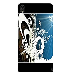 PrintDhaba Music D-1390 Back Case Cover for HUAWEI ASCEND P6 (Multi-Coloured)