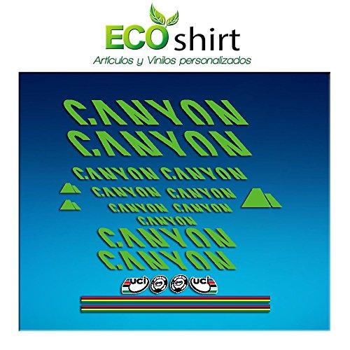 Ecoshirt Q3-I2IF-56WH Aufkleber Sticker Canyon Bike Aufkleber Decals Autocollants Adesivi Frame