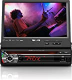 Philips CED781 Car AV-System for Apple iPod/iPhone (17.8 cm (7-Inch) Touchscreen, GPS, DVD-RW, DivX, Bluetooth, USB) Black