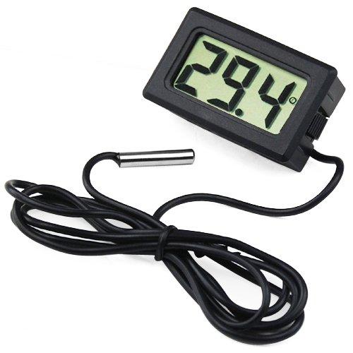 TRIXES Mini-Digitalthermometer mit LCD-Display für Kühl- und Gefrierschrank