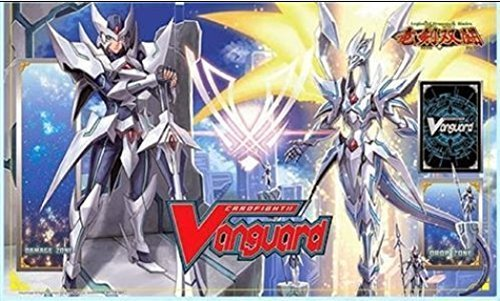 LIMITED EDITION Blaster Blade Seeker & Thing Saver Dragons PLAYMAT - Cardfight Vanguard English Legion of Blades BT16 from Booster Case by Cardfight Vanguard