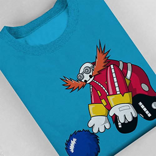 Sonic And Dr Eggman Baymax Mix Women's Sweatshirt Sapphire
