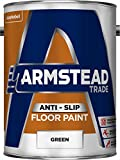 Armstead Trade Anti-Slip Floor Paint Anti Slip Floor Paint 5 L - Pinturas de pared para interior (Pintura, Preparado, Concreto, Piso, Madera, Verde, M