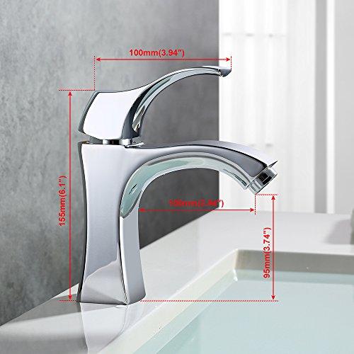 Homelody – Design-Waschbeckenarmatur, Einhebel, ohne Ablaufgarnitur, Keramikkartusche, Chrom - 2