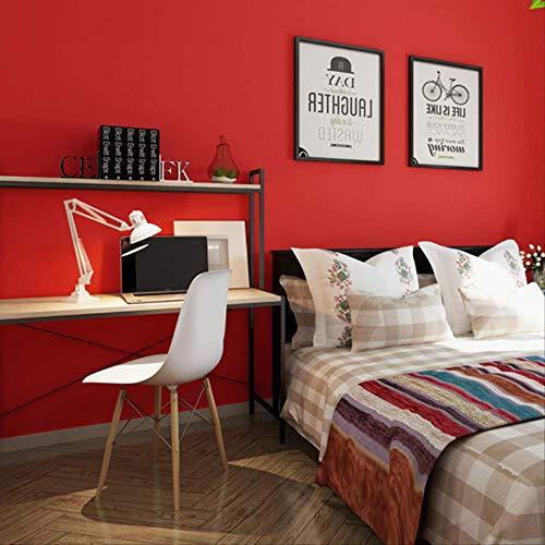 Große Red Nonwovens Tapete Moderne Einfache, Solide Farbfläche Flachbild Schlafzimmer-tv Hintergrund Hotel Speichern Tapete 10m*0.53m/roll (Schrank Für Flachbild-tv)