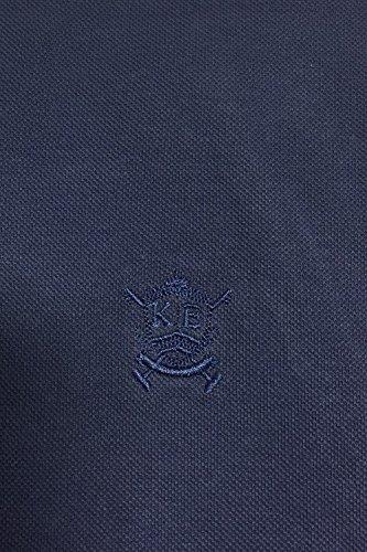 Herren Kensington Eastside Dunstable Polohemd Chambray Kragen Freizeit Piquet Baumwollhemd blau - 1x8877r