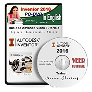 AutoDesk Inventor 2016 Video Training (1 DVD, 8 Hrs) in English