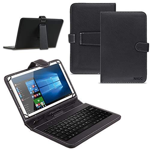 Vodafone Tab Prime 7/6 9.6 Zoll Tablet Tasche USB Tastatur Keyboard Hülle Cover QWERTZ Standfunktion Micro USB Schutzhülle