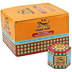 Leegoal Tiger Balm Red Ointment, Bálsamo de Tigre Rojo Herbal Essences Aceite para Aliviar El Dolor Ungüento para Refrescarse, Mordeduras Anti-Mosquito, Enfermedad de Movimiento