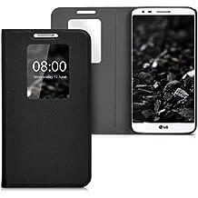 kwmobile Funda potectora práctica y chic FLIP COVER para LG G2 en negro