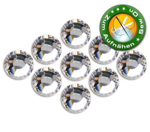10 Stück SWAROVSKI ELEMENTS 3288, Crystal, 8 mm, Strasssteine zum Aufnähen