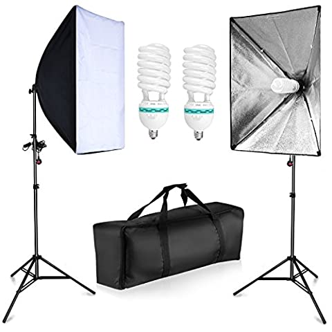 BPS 1250W Softbox Continuous Lighting Kit Photography Studio soft box Kit - 2 x 20