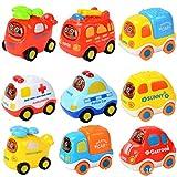 RedBee Voitures de Jouet, Bébé Se Retirer Petite Voiture Pull and Go Toy Car Lot de 3 pour 1-3 Ans Enfants, Enfants, garçons et Filles (3-PCS)