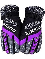 Los guantes calientes guantes y cómoda Guantes calientes del invierno de los hombres de viento y la versión coreana de los guantes a prueba de agua de marea engrosamiento de algodón Riding ciclo al aire libre de esquí femenino ( PATRÓN : C )