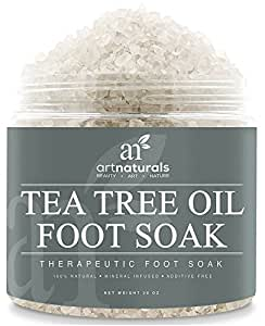 ArtNaturals Fußbadesalz mit Teebaumöl und Meersalz-Kristalle - (20 Oz / 567g) - Anti-Pilz Badezusatz