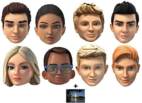 Thunderbirds Are Go Variety Karte Partei Gesichtsmasken (Maske) Packung von 8 - Enthält 6X4 (15X10Cm) (Kostüm Puppet String)