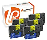Bubprint 5 Schriftbänder kompatibel für Brother TZE-631 TZE 631 für P-Touch 1280 2430PC 2730VP 3600 9500PC 9700PC D400VP D600VP H100LB H105 P700 P750W