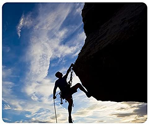 Climber Extreme Silhouette Climbing Rock Difficulties Sunset Customized Rectangle Mousepad, Gaming Mouse Pad Mouse