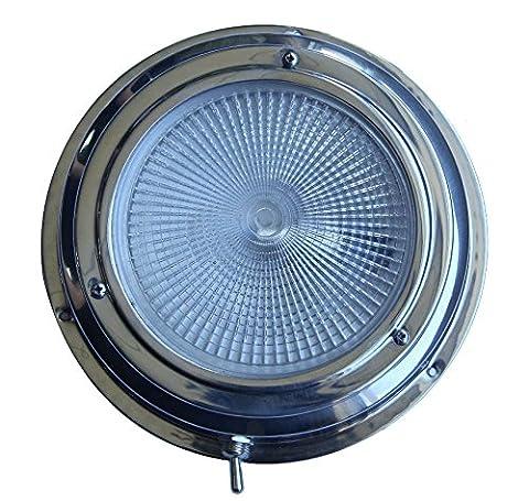 Lampe Dôme Blanc en acier inoxydable avec interrupteur à bascule pour Marine Bateau Xiamen Oceangate, LED