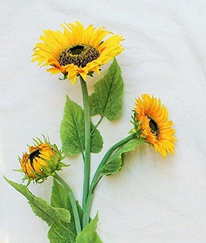 Seide Faux Sonnenblumen (Sonnenblume Dekoblume Einzelblume H: ca. 108 cm gelb Blüte ca. Ø 20 cm)