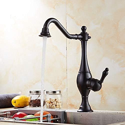 Durable Europäische Küchenarmatur Kreativ Kupfer Spüle Armatur Retro gebürstet Wasserhahn schwarz praktisch