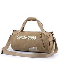 Xincada Travel Duffel Bag Vintage Canvas Shoulder Bag Handbag Weekend Travel Bag For Men Outdoor Sports Gym Hiking...