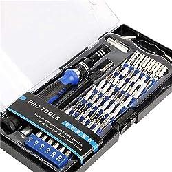60 en 1 Destornilladores Precisión S2- Juego de Destornilladores Profesional con 56 Puntas Magnética para Todos Tornillos- Herramientas para Reparación de SmartPhone PC Xbox Cámara Macbook