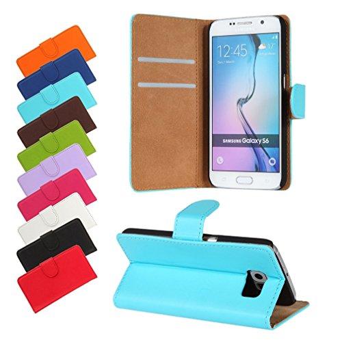 BRALEXX A12644 Bookstyle Tasche für Samsung Galaxy S6 920F hellblau