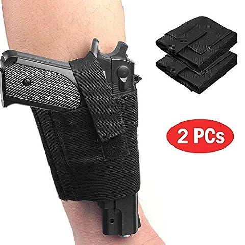 LIVEBOX Concealment Ankle Leg Pistol Gun Right Left Holster for Revolvers Small Frame Pistols Handguns Guns(Pack of