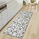 HYRL Carpets Extra Lange Badezimmer Läufer Teppiche Rutschfeste Stein Badematte Für Bad Absorbierende Küche Boden Teppich Maschine Waschbar,#4,60 * 180Cm