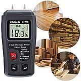 Profesional LCD Medidor de Humedad Digital,GOCHANGE 0-99% Medidor de Humedad de Madera Detector con Agujas del Electrodo Integrada/en Madera y Pared,Cartón,Papel,Algodón