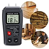 Wood Moisture Meter, GOCHANGE Digital Logs Moisture Meter Damp Meter / 0-99% Wood Humidity Tester Detector/Firewood Logs Timber Humidity Measuring Device