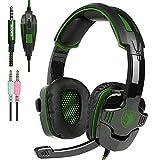 New Xbox uno PS4 Gaming Headset con controllo del volume Mic, Sades SA930 cuffie stereo per PC portatile Mac Tablet Smartphone da AFUNTA-Nero/Verde