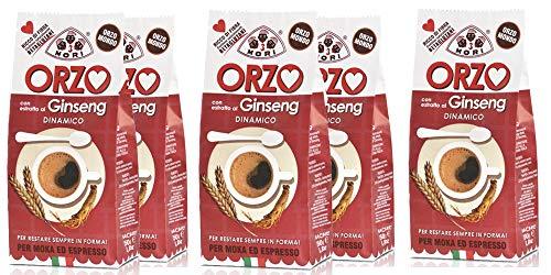 Tre Mori 5 x ORZO al Ginseng di kg. 2.5 - Ginseng - Ginseng Ginseng Moka - Ginseng Espresso - Ginseng d\'orzo