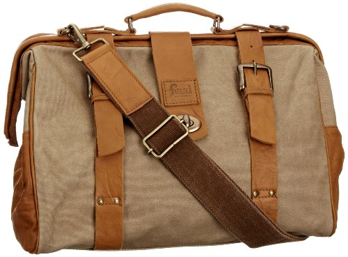 Feud Britannia Ritz Over Night Bag, Articles de voyage homme - noir / Tan - taille unique Beige / Tan