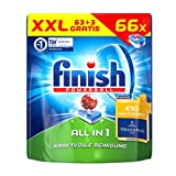 Finish Calgonit All in 1, Spülmaschinentabs, XXL Vorteilspack, 66 Tabs (3 Stück gratis)