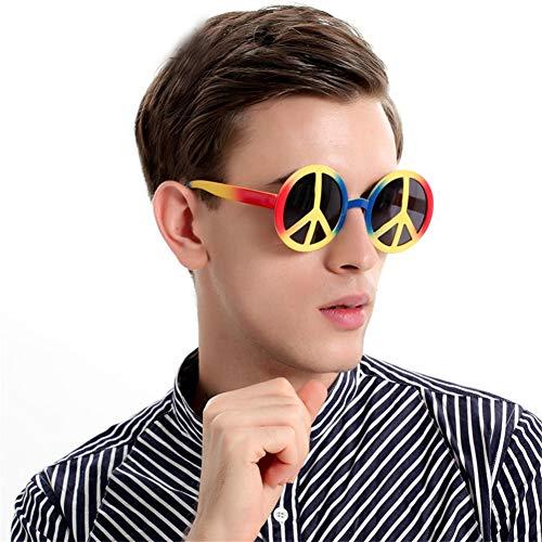 Unbekannt Mode Regenbogen Welt Frieden Zeichen Sonnenbrille Kostüm Brillen Erwachsene Kinder Party Photo Booth Kostüm - Welt Friedens Kostüm
