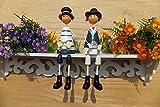 MJY Kreative Dekoration Handwerk Holz Ornamente Mittelmeer Abteilung der Füße Puppe Wohnzimmer Dekorationen,Ein