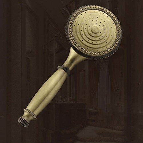 Duschkopf UOMUN Düse-Kupfer mit Schlauch erhöhen Wasser-Druck-große Platte Handgroßer Wasser-Fluss-explosionssichere Bronze Internationaler Standard G1 / 2 (größe : A) -