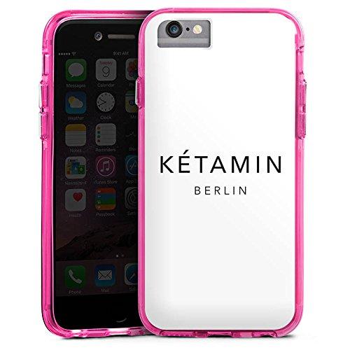 Apple iPhone 7 Plus Bumper Hülle Bumper Case Glitzer Hülle Ketamin Berlin Luxus Bumper Case transparent pink