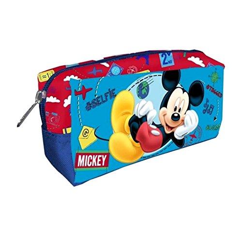 Trousse de toilette rectangulaire enfant garçon Mickey 22x11x8cm - Bleu, Taille unique