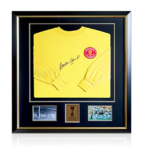 Framed-Gordon-Banks-Signed-Anniversary-Shirt-World-Cup-Edition