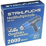STAHLFUCHS STAHLFUCHS Heißluftpistole 2000 Watt Heißluftfön 400°C - 600°C / 2 Stufen inkl. 4. tlg. Zubehör [ 2. Generation ]