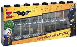 LEGO - Vitrine de Présentation Batman pour 16 Mini-Personnages, Conteneur Empilable contre Un Mur Ou sur Un Bureau, Noir