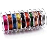 3/PCS Mix Farben 0,2/mmx20/m d/ünnen Kupfer Draht Gewinde Midge Larven Nymphe Fliegenfischen K/öder Rippung K/örper macht Fliegen Binden Materialien