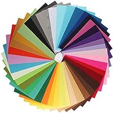 zedtom-Juego de 42pcs tela fieltro de poliéster 20* 30cm 42colores para tuercas DIY costura