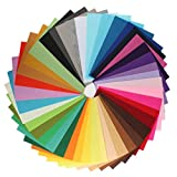 westeng Mix 42 colores poliéster tela de fieltro hoja Patchwork para costura DIY Craft Trabajo 20 * 30 cm 1 mm de grosor